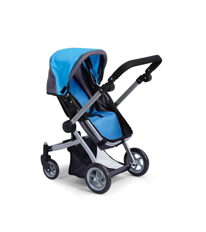 Like Bugaboo Deluxe Doll Stroller Blue & Grey