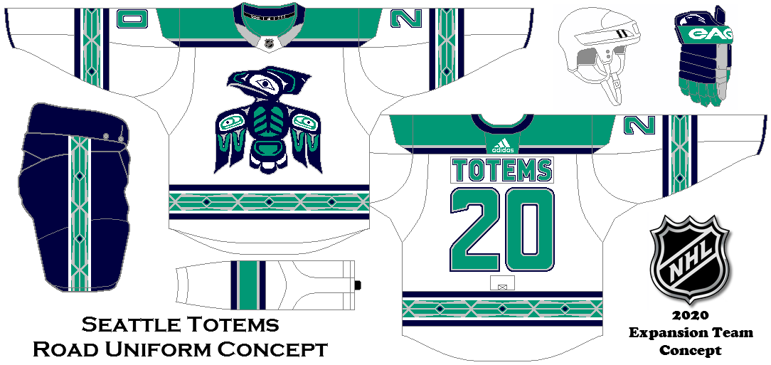 04ad61df88e Seattle Totems Road Uniform concept. My idea for a possible NHL expansion  team in Seattle.