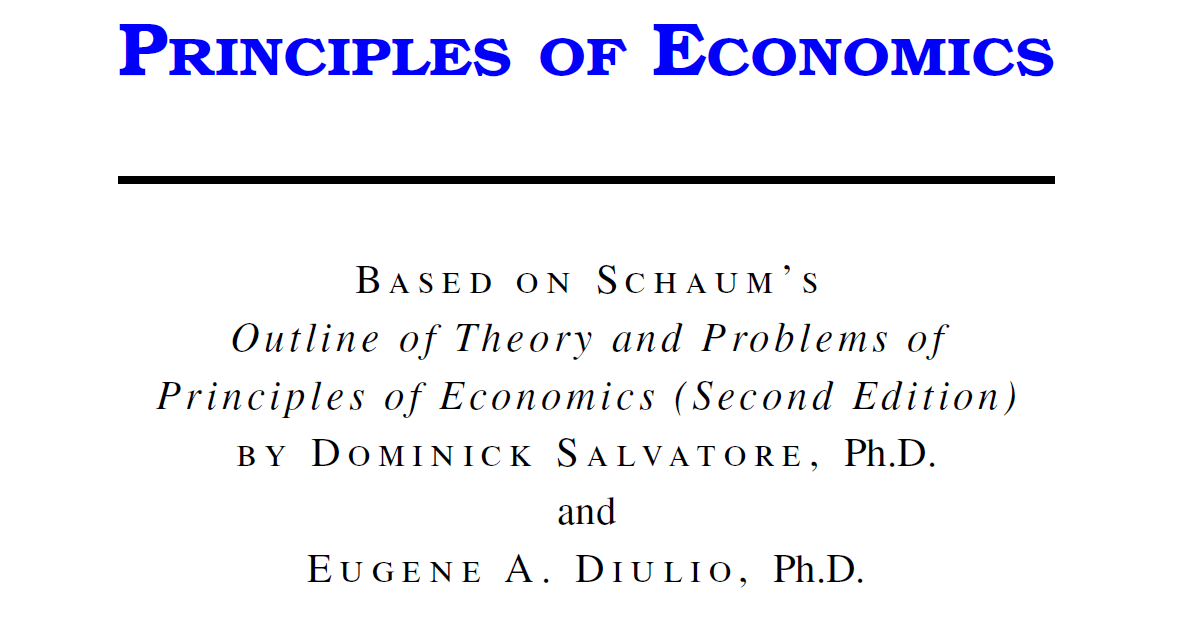 Principlesofonomics dominick salvatore second edition with economics dominick salvatore second edition with manual solution pdf fandeluxe Choice Image