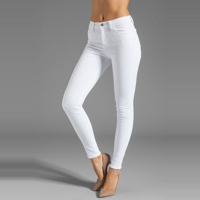 J Brand Jeans Mid Rise Maria Skinny in Blanc   White skinnies, The ...