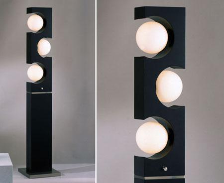 L mpara de pie moderna lampara pie pinterest esferas - Lamparas de pie para recibidores ...