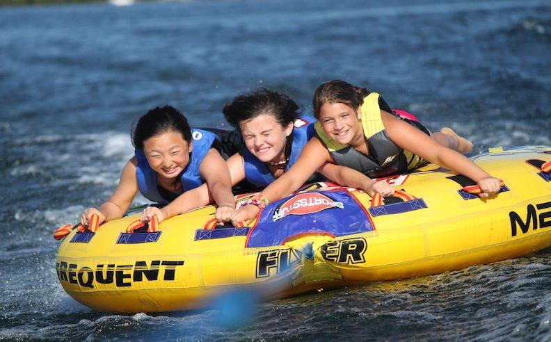 Water sports at Camp Matoaka, a girls summer camp in