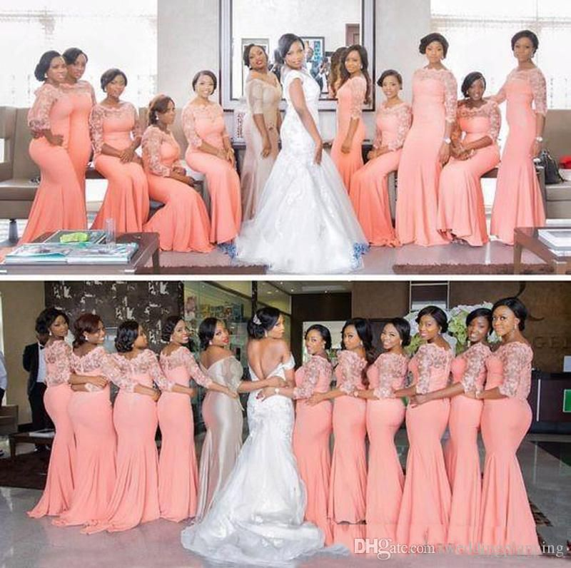 2017 Cheap Mermaid Bridesmaid Dresses For Weddings Guests ...