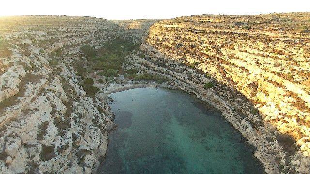 Lampedusa Dronestagram Natural Landmarks Aerial View Italy