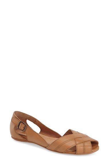 Topshop 'Ottie' Peep Toe Flat (Women