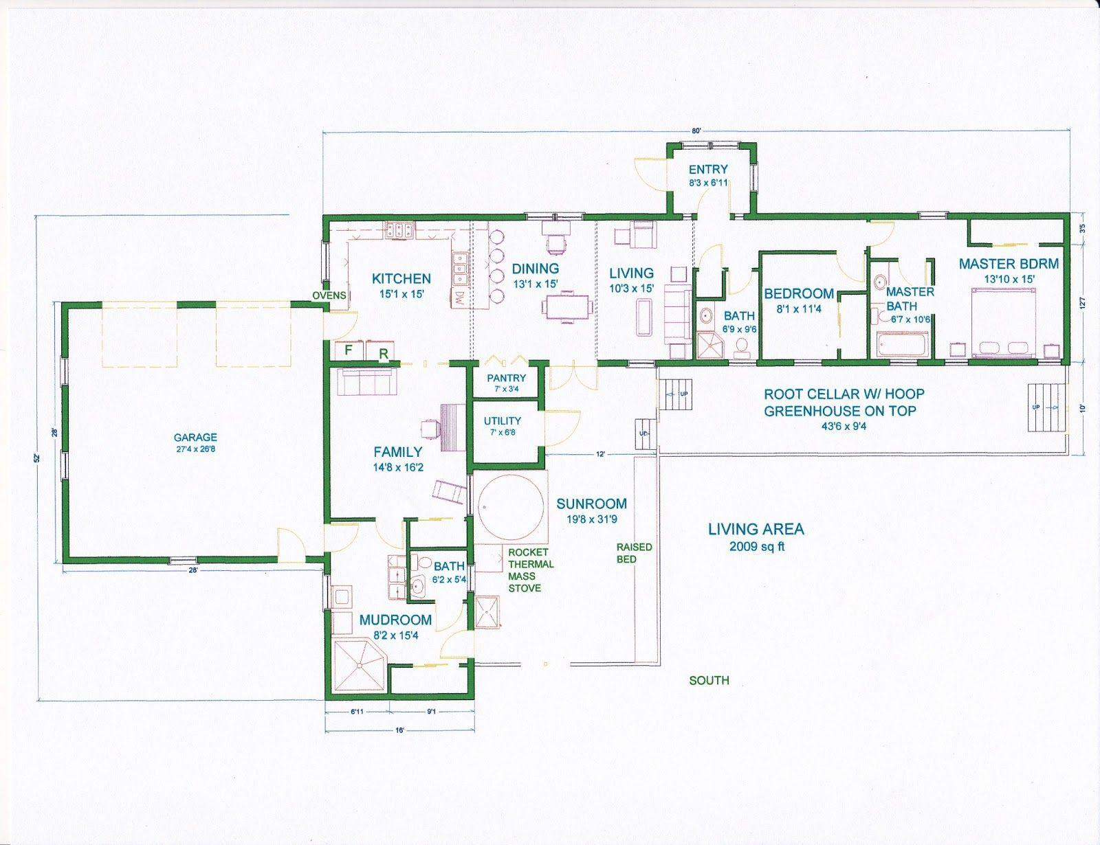 grama sue's floor plan play land: passive solar - off grid l