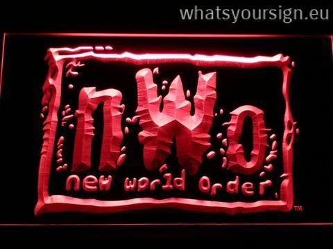 WWF New World Order - LED neon light sign made of the highest quality transparent plastic and bright colorful illumination. The neon sign looks exactly the same from all angles thanks to the carving with the newest 3D laser engraving technology. This LED neon sign is a great gift idea! The neon is provided with a metal chain for displaying. Available in 3 sizes in following colours: Yellow, Green, Purple, Blue, Orange, White and Red!