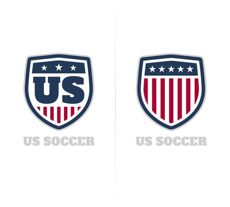 Us Soccer Redesign Idea Retro Logos Us Soccer Logo Design