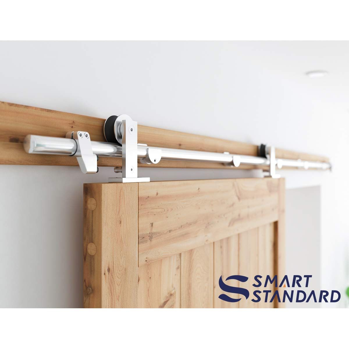 Single Sliding Barn Door Hardware Kit 6 To 12 Interior Sliding Barn Doors Barn Hardware Sliding Barn Door Hardware