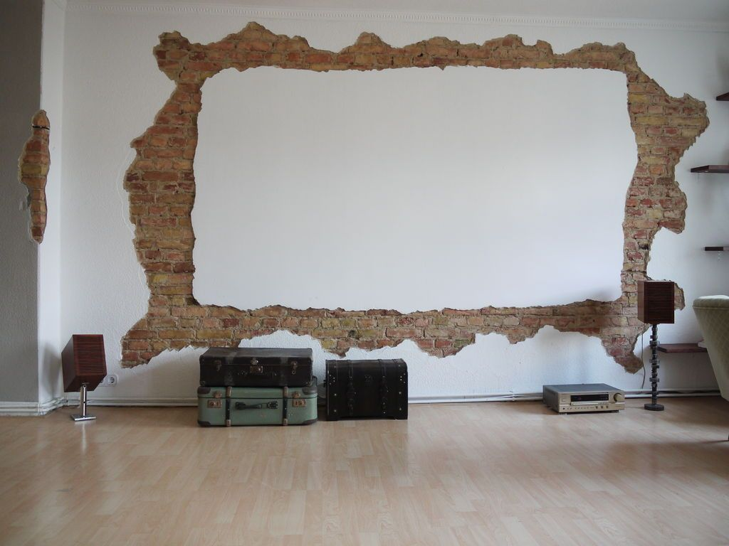 My Homecinema Screenwall Projection screen Bricks and Condos