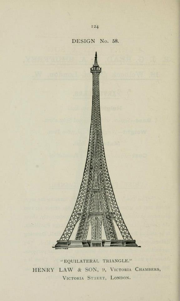 The Eiffel Tower Of London A Torre Eiffel De Londres Torre Eiffel Dibujos Arte