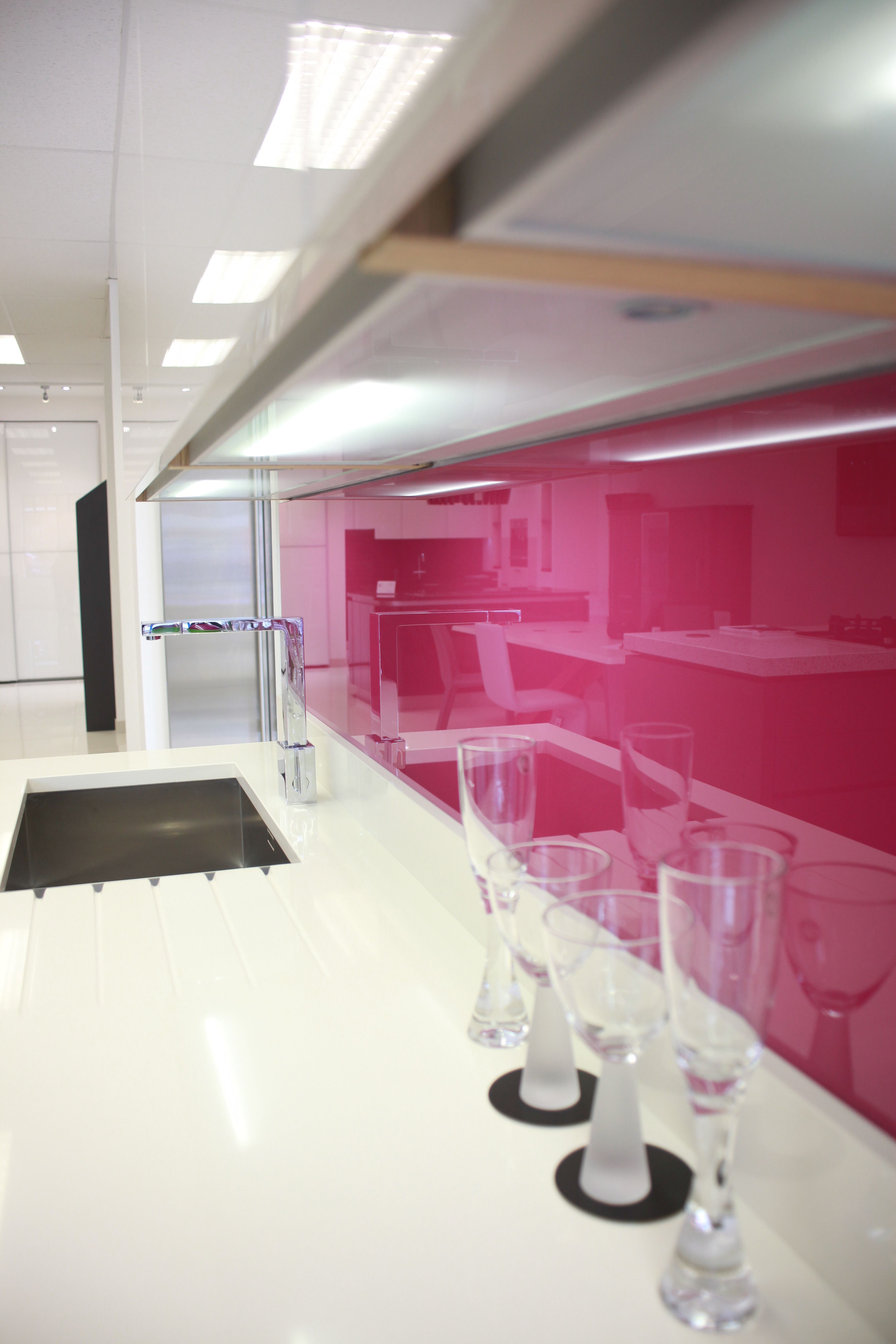 Bright Pink   At Our Clients Showroom Spazio Design Chelmsford Essex