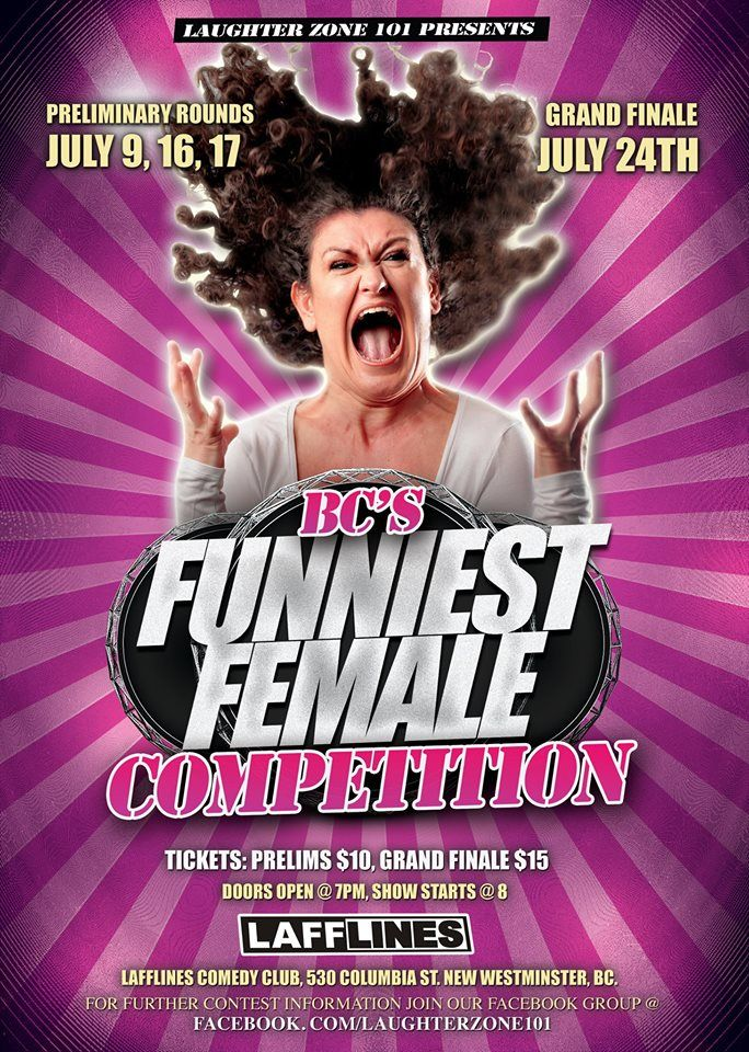 Female Comics Stand Up Comedy Poster Funniest Female Competition