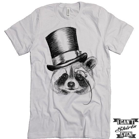 Raccoon Shirt. Unisex Tshirt. Funny Raccoon Tee. Raccoon Wearing A ...