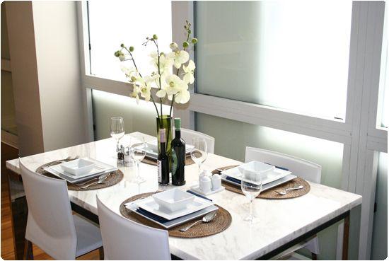 Luxury Dining Area Description Marble Top Table