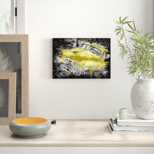 East Urban Home 'Vintage Classic Car Rusted 5' Graphic Art on Wrapped Canvas | Wayfair.co.uk