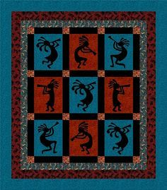 southwestern quilt patterns - Google Search   Quilt Squares ... : kokopelli quilt pattern - Adamdwight.com