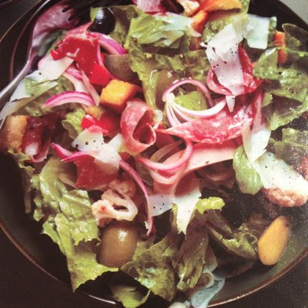 A healthier version! Try this #Italian #sub #salad