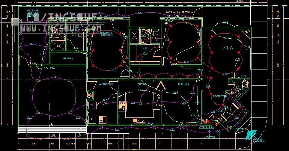 كهرباء منازل حديثة مخطط كهرباء لمنزل حديث كهرباء المنازل الحديثة Pdf رسم كهرباء المنازل احدث تصميمات ك Autocad Electronic Components Electronic Products