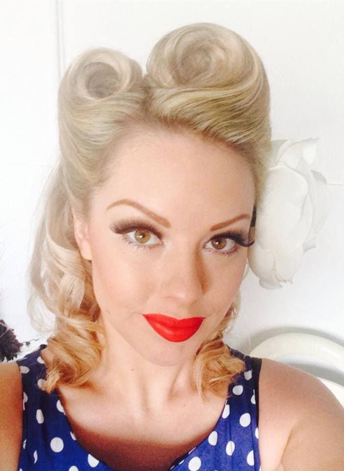 50s And 60s Hairstyle Retro Hair For Fashion Photography Hair In