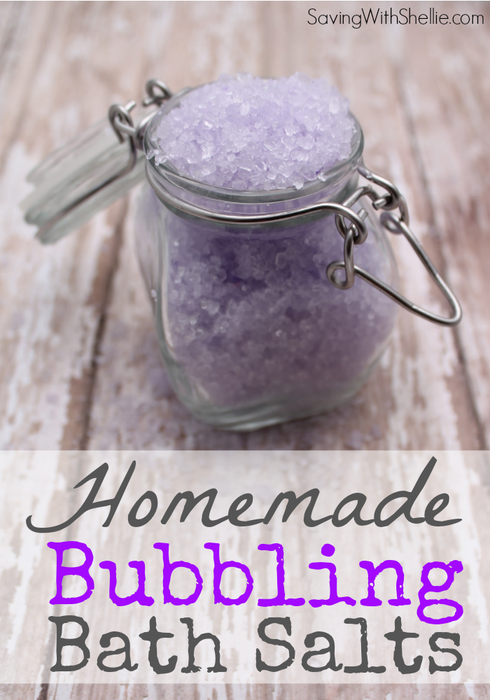 Easy Homemade Gift Idea: Bubbling Bath Salts. Change The Color To Match The  Season