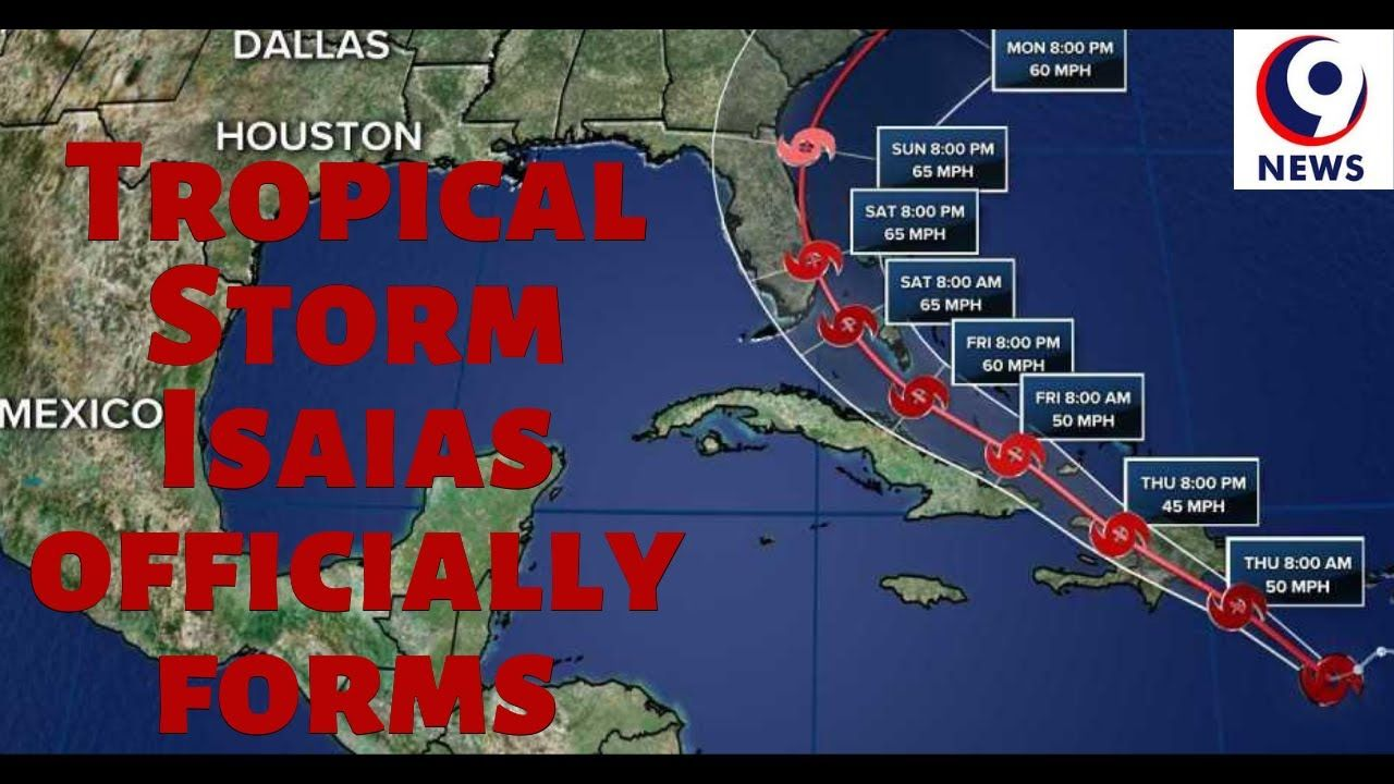Tropical Storm Isaias Officially Forms Track For Florida Moves Farther In 2020 Storm Tropical Storm National Hurricane Center