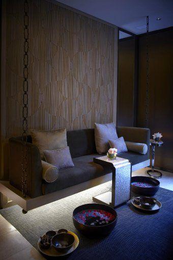 Mandarin oriental on en 2019 hammam spa lounge spa interior et spa design - Siege suspendu salon ...