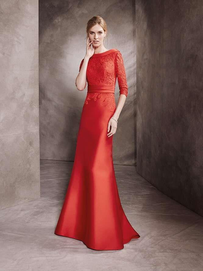 53c728f69 Vestidos de ceremonia San Patrick  fotos colección 2017 - Vestido de fiesta  en rojo diseño