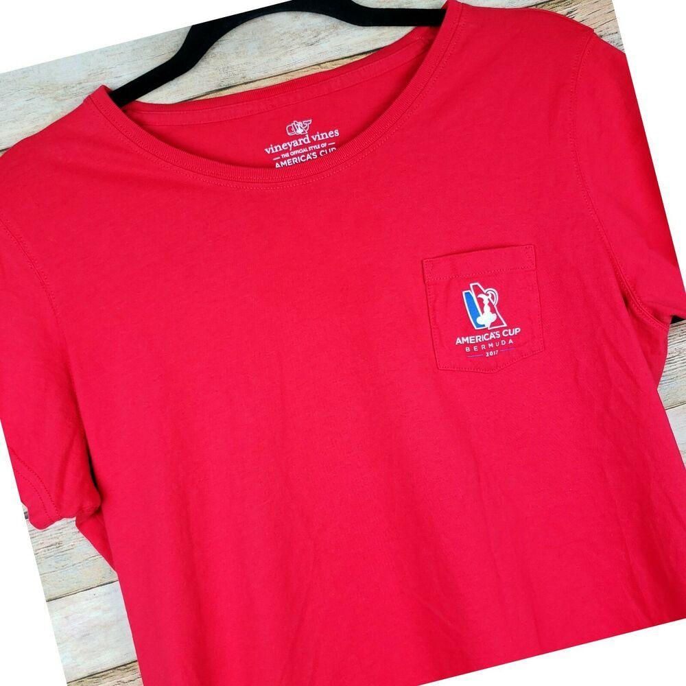 Tee Vineyard Short Sleeve Women's America's Cup Bermuda 2017 Vines qVzpSMU