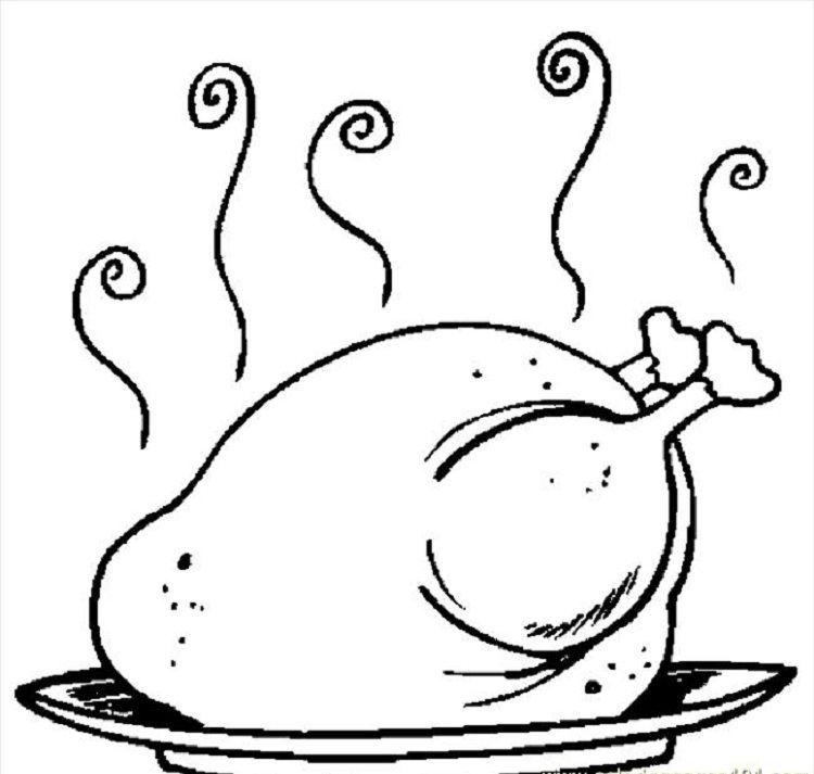 Cooked Turkey Coloring Pages Download Or Print The Image Below