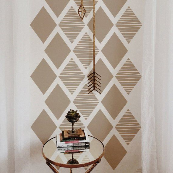 Diy Geometric Accent Wall Painters Tape: Pin On Home Decor