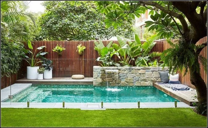 125 Simple Small Swimming Pool Ideas For Minimalist Home Page 38 Mixturie Com Backyard Pool Landscaping Swimming Pool Designs Small Backyard Pools