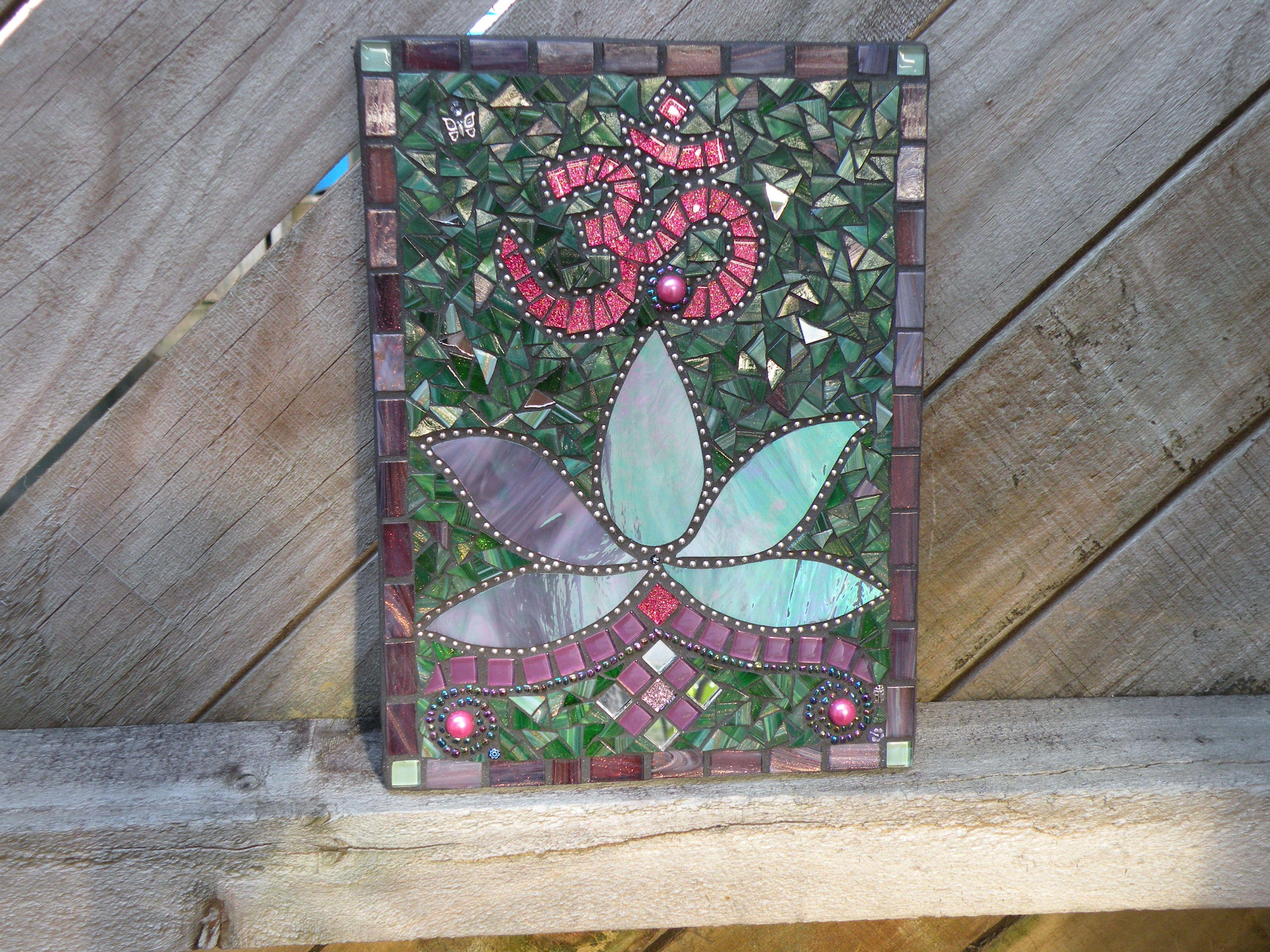 Mosaic Lotus Flower And Om By Janet Sanders Nz Janet Sanders