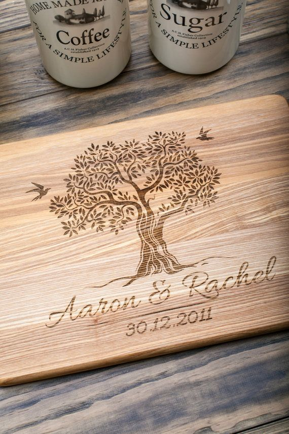 Wood Wedding Gift Ideas: Personalized Cutting Board Wedding Gift Engagement By