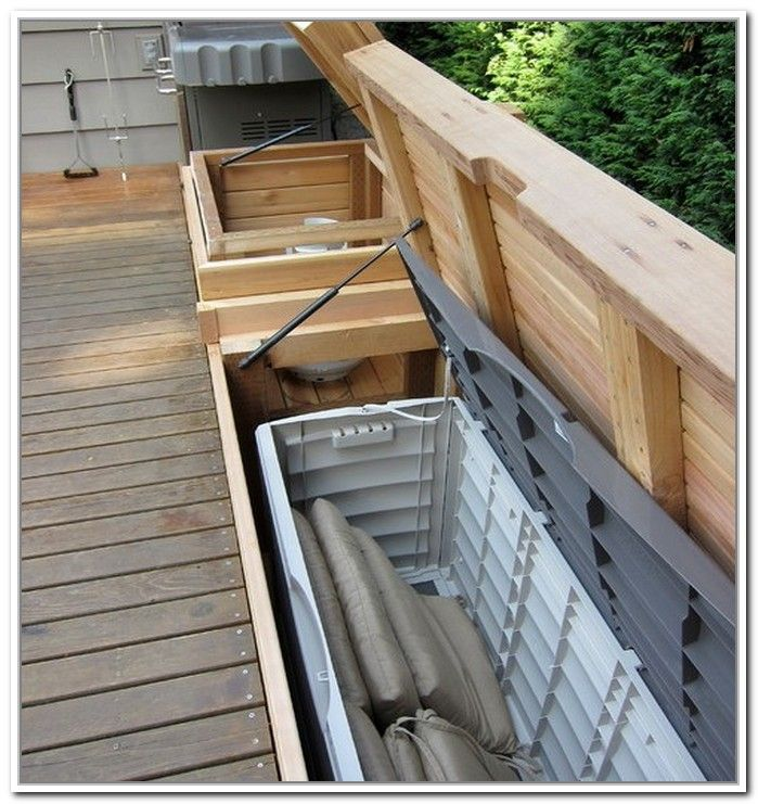 Exceptionnel Outdoor Cushion Storage Bench