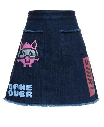 AMERICAN RETRO - Printed #Denim #Skirt