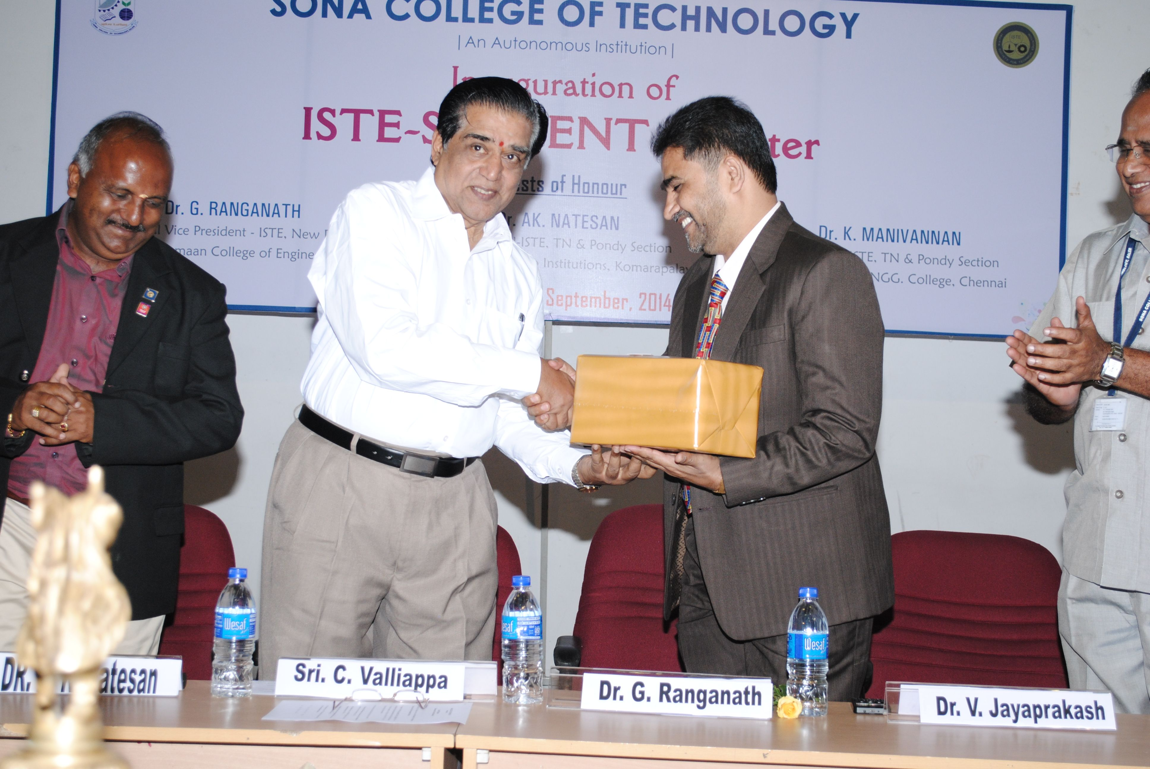 Chairman, Sri C. Valliappa honours the chief guest Dr. G