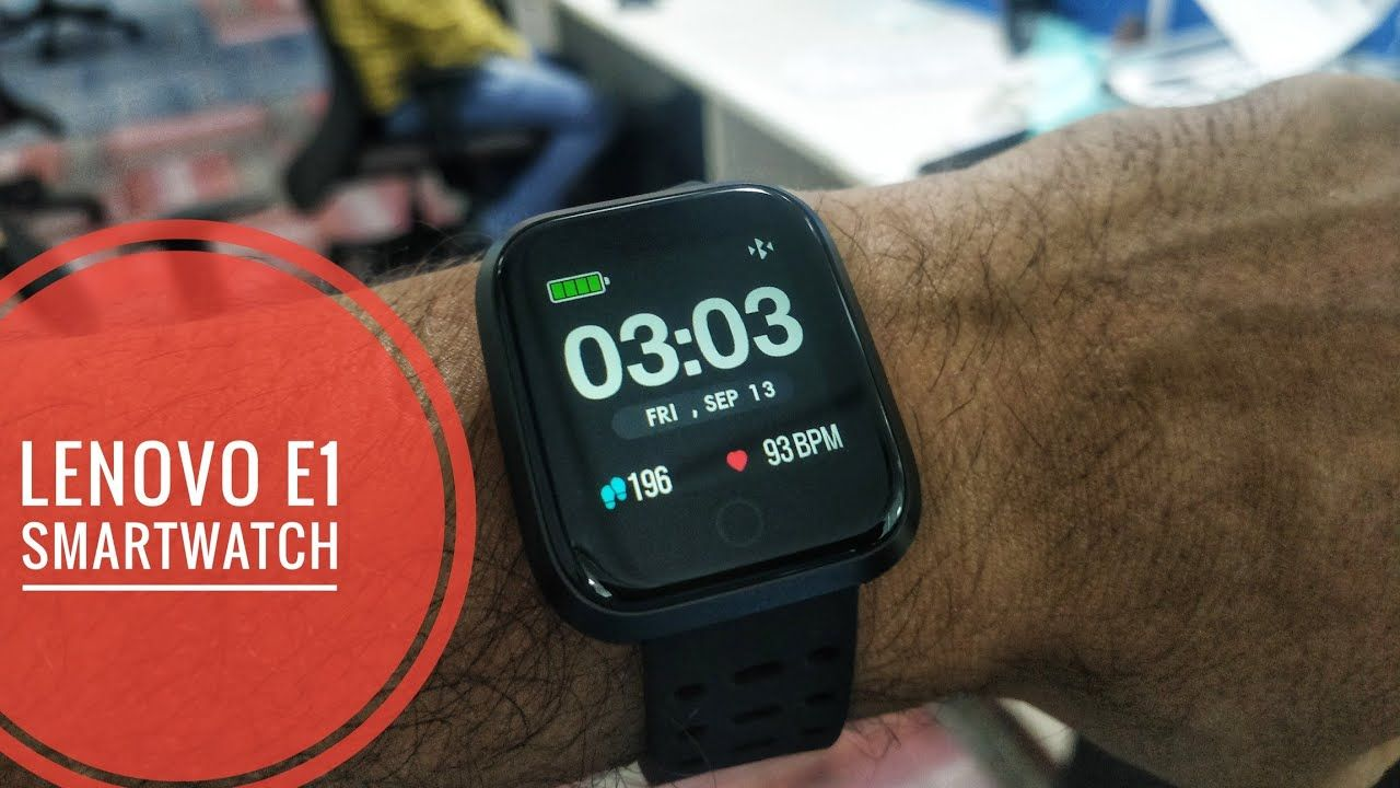 Lenovo E1 Smartwatch Delivered to India by Gearbest