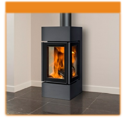 Pellet burning wood basket stove