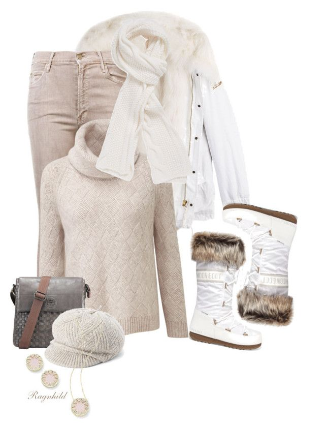 """""""Whites or Nudes for Fall/Winter Season (OUTFIT ONLY!)"""" by ragnh-mjos ❤ liked on Polyvore featuring Barbed, Mother, Moon Boot, Stella T. and House of Harlow 1960"""