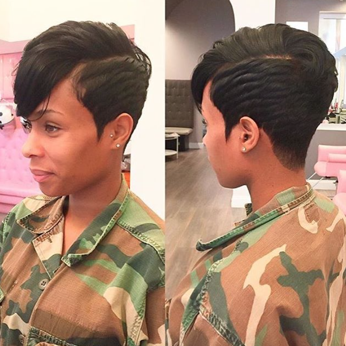 pin by ronda on short pixie   short black hairstyles, short