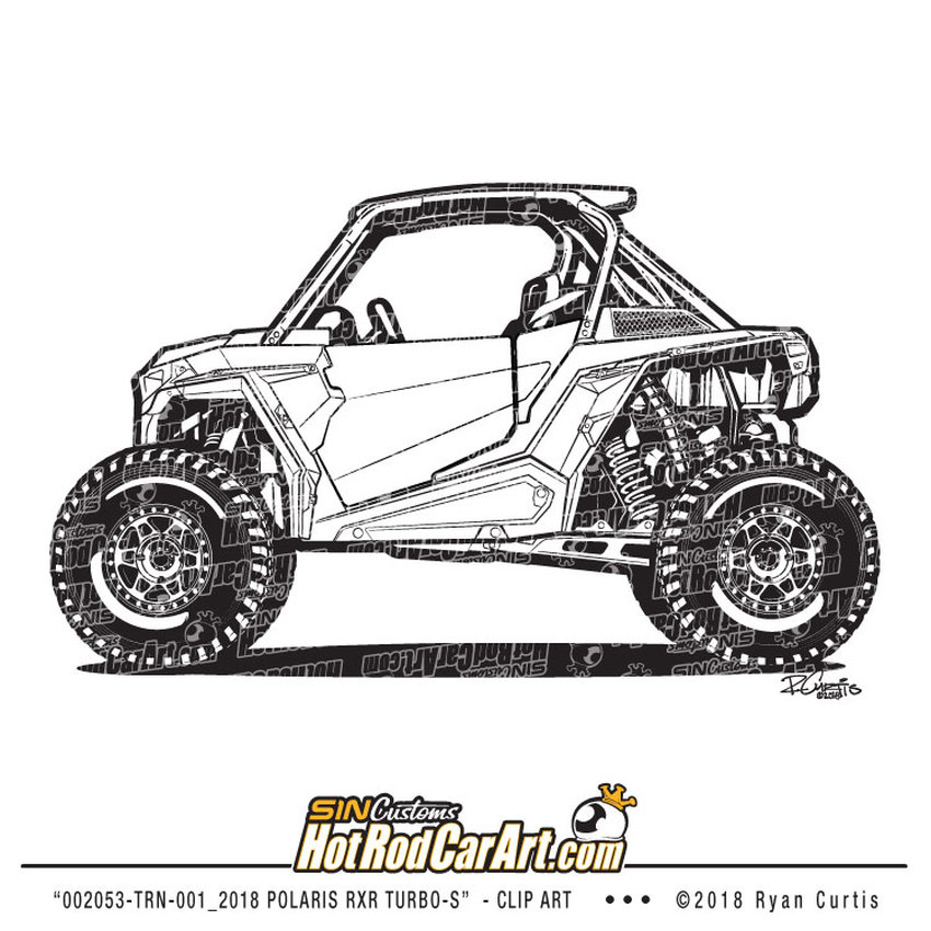 002053 Trn 001 2018 Polaris Rzr Turbo S Clip Art Rzr Turbo Turbo S Clip Art
