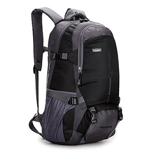 bc3b73883a qingstart Waterproof 45L Outdoor Travel Backpack Hiking Backpack Daypack  Camping Backpack Black     Check this awesome product by going to the link  at the ...