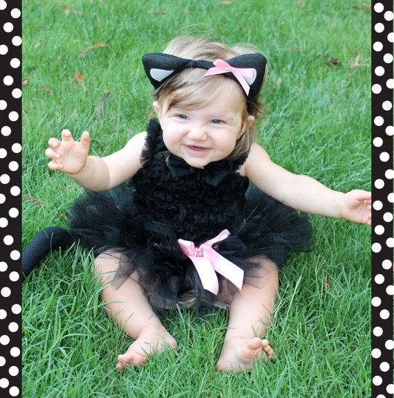 Adorable black cat costume jumpsuit with attached tail and character headpiece JFEELE Toddler Halloween Costume Kids Romper Costumes for Baby Boys and Girls ( Years) by JFEELE.