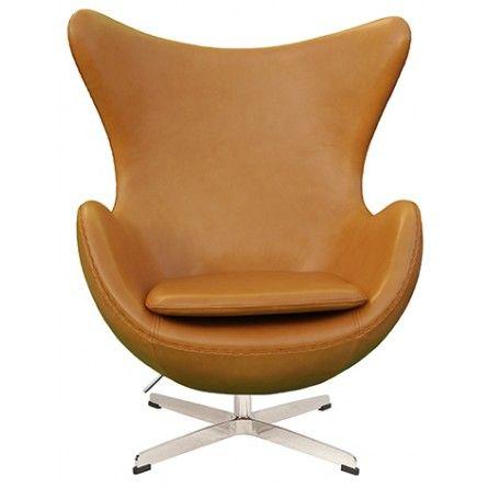 Arne Jacobsen Egg Chair Tan Brown Leather Egg Chair Chair Arne Jacobsen Egg Chair