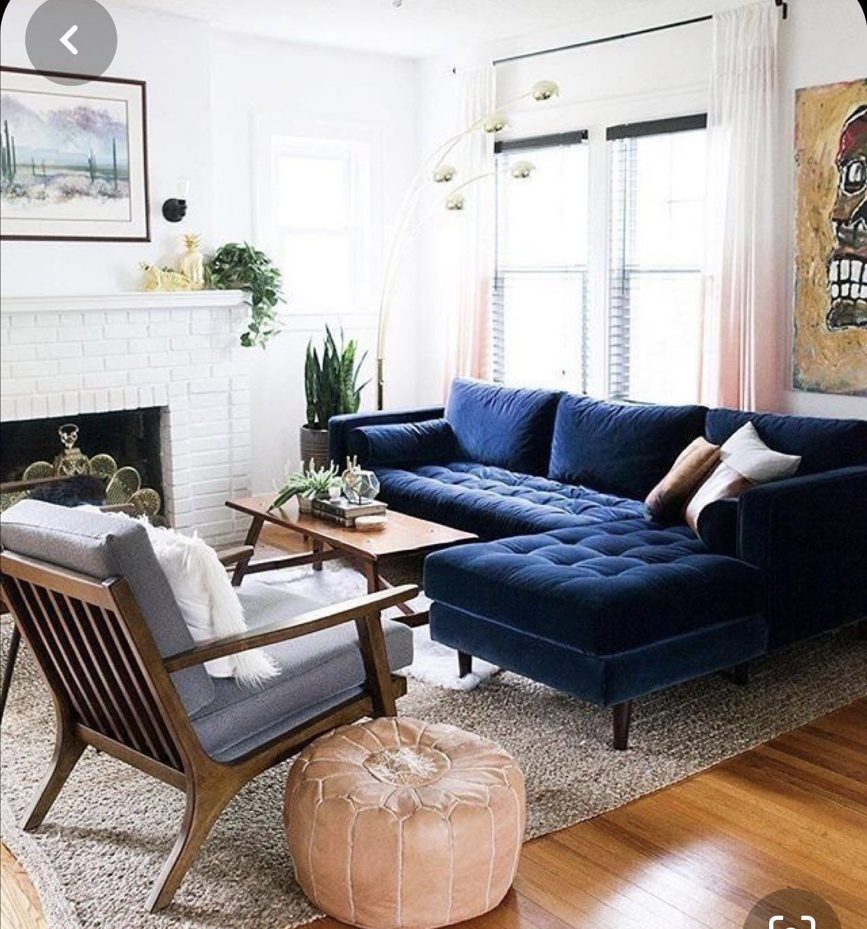 pinapsara on humble abode in 2020  blue sofas living