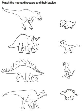 Neville Public Museum Dinosaur Activities Dinosaurs Preschool Kids Worksheets Preschool Preschool dinosaur matching worksheet