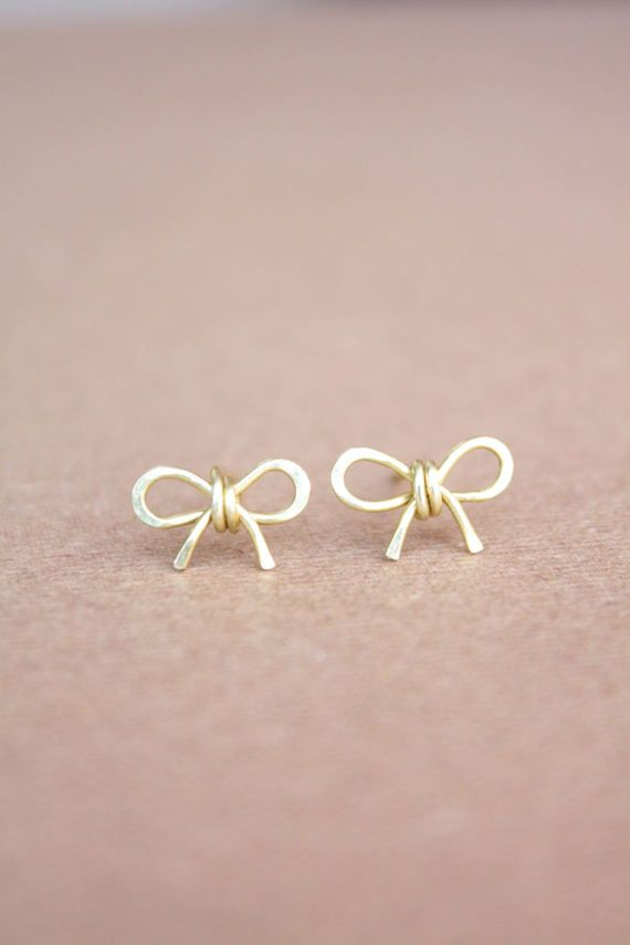 zoom women earrings jewellery stud bow delicate greed john pandora