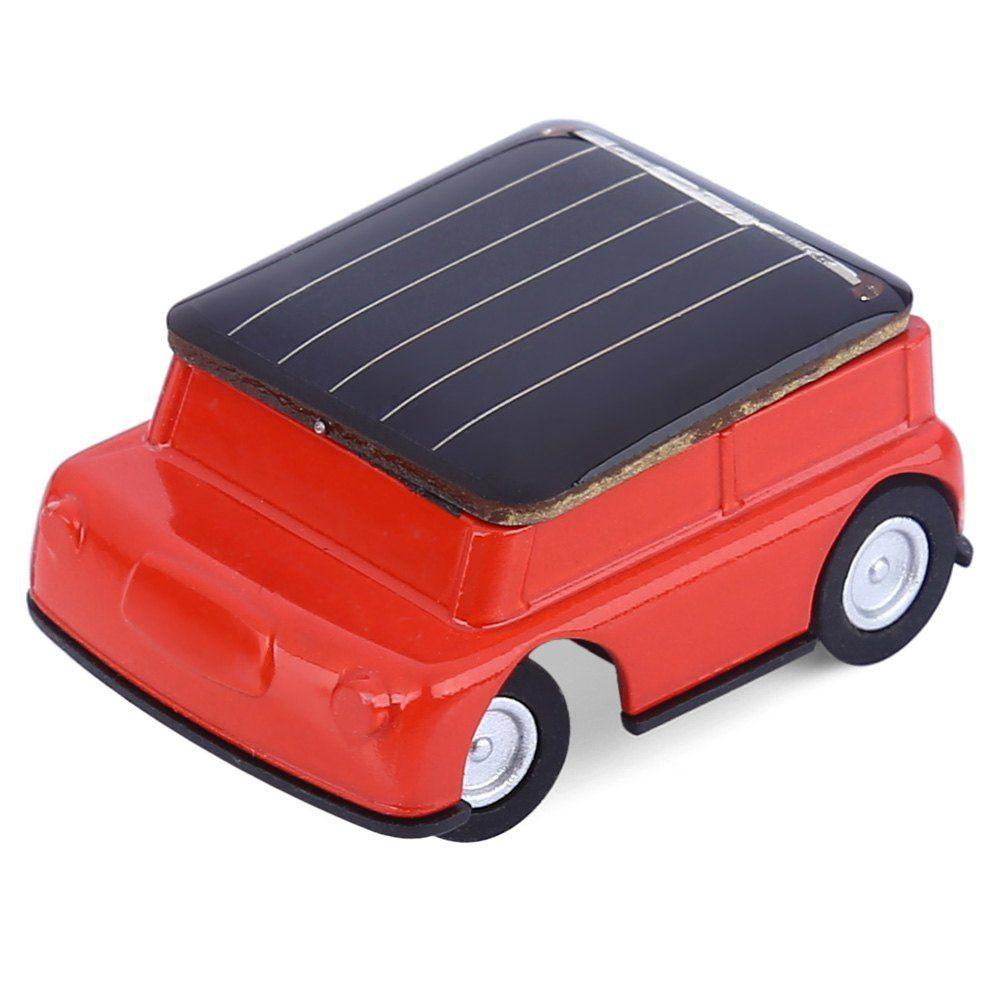 Educational car toys  Lovely Mini Solar Power Red Toy Car Racer The Worldus Smallest