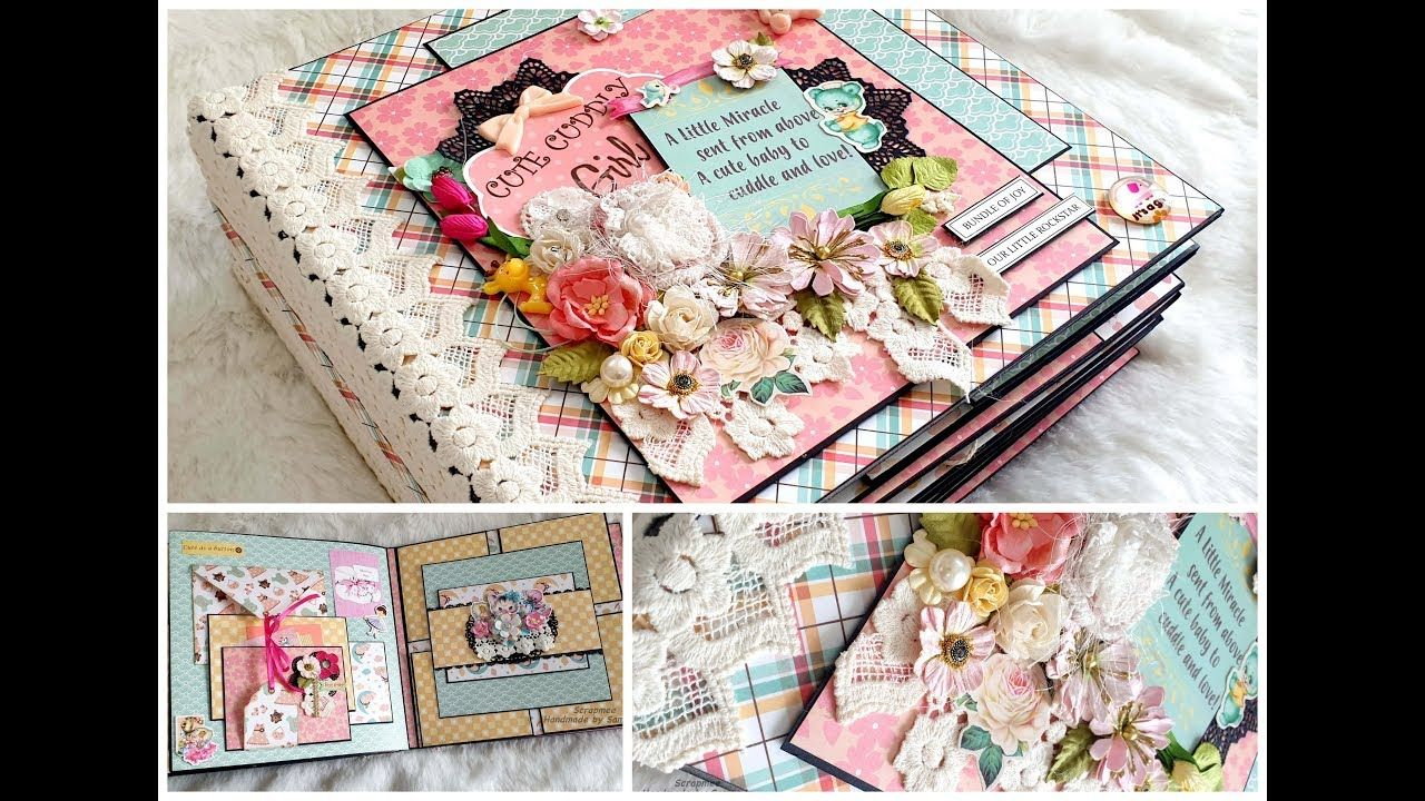 Baby Girl Scrapbook Ideas Best baby scrapbook album in